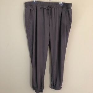 Mossimo Supply Co. Gray Satin Joggers